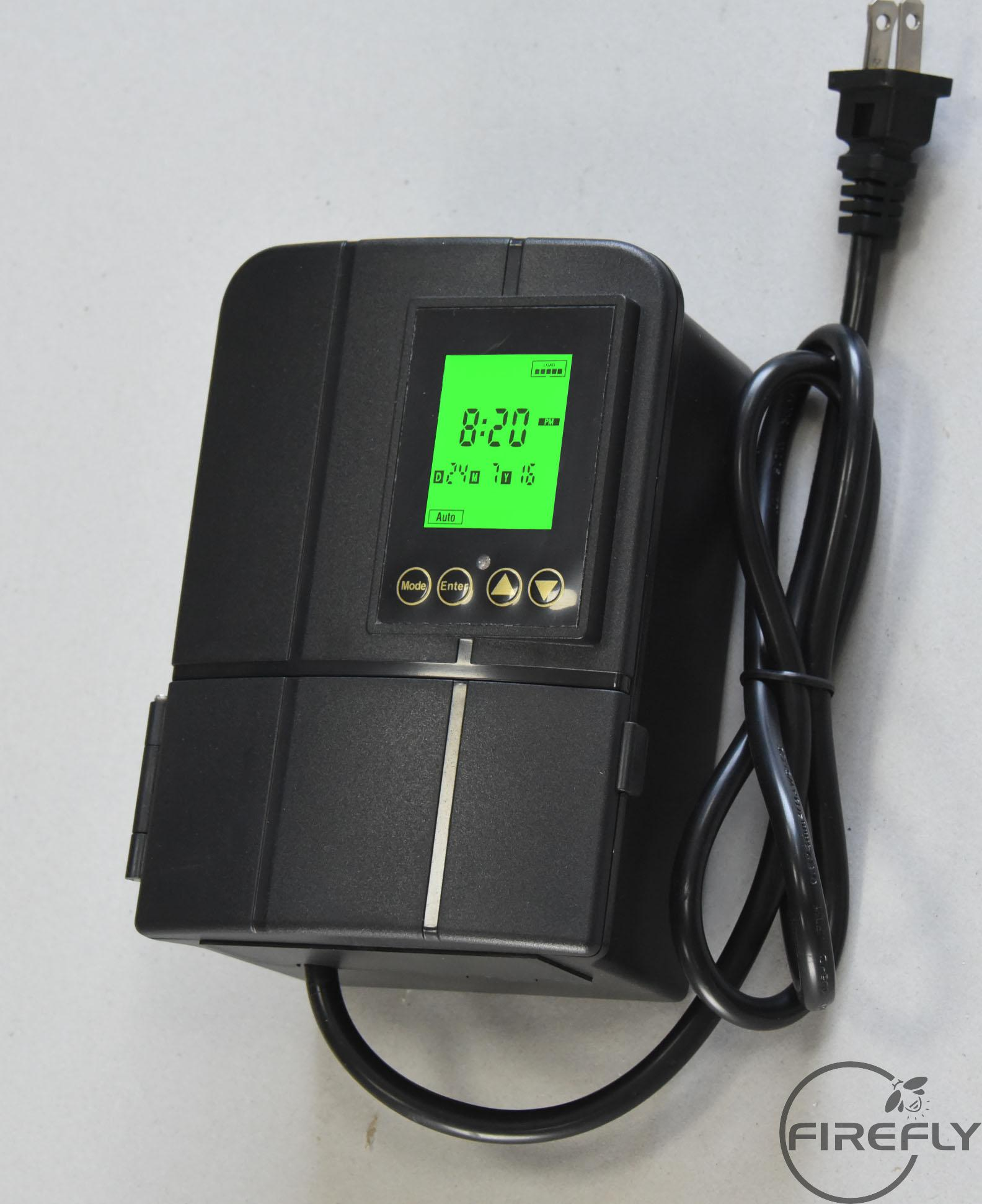 E000-1715 Dusk-to-Dawn Weatherproof Transformer for Outdoor Landscape Lighting with Astronomical Timer and A/C, 12V/120W